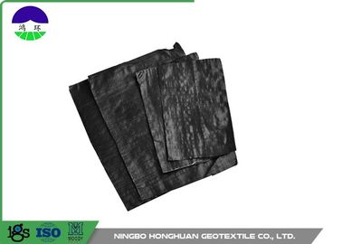 Black Separation Woven Geotextile Fabric Pp Material 205gsm Unit Mass